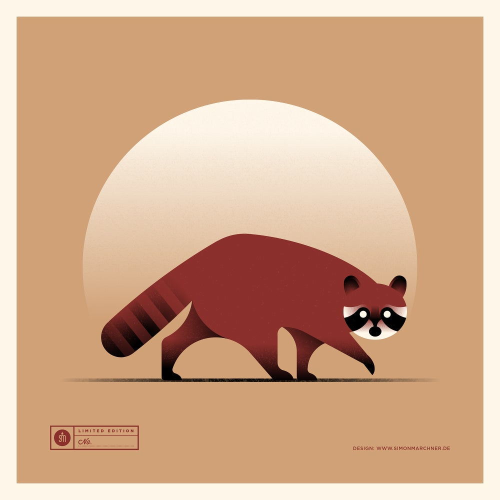 Image of Raccoon Red Version
