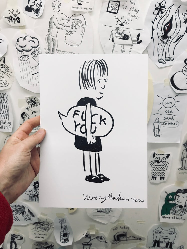 Image of FUCK YOU - SIGNED A4 PRINT