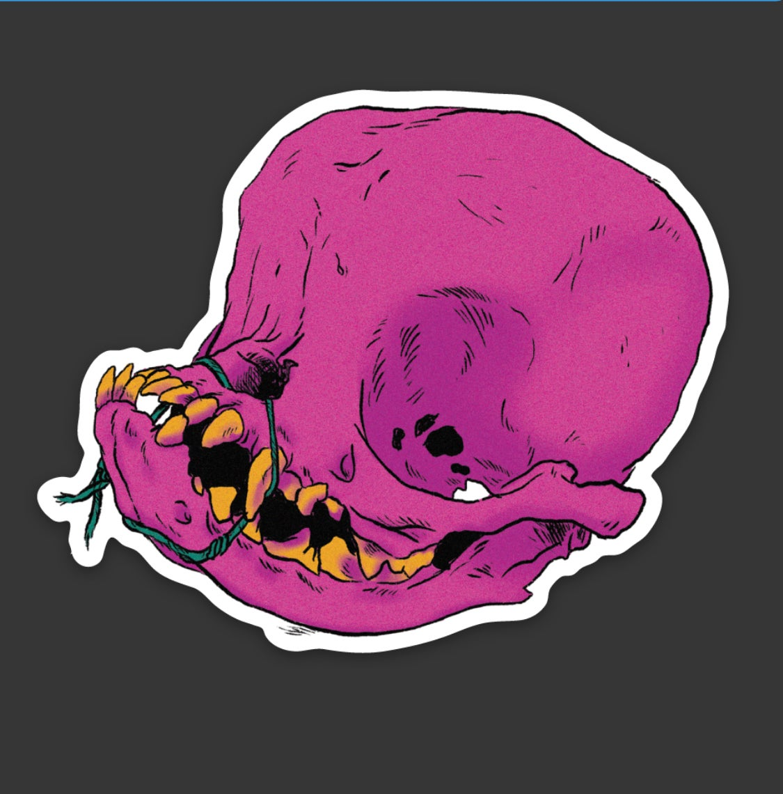 Image of DOG SKULL II STICKER