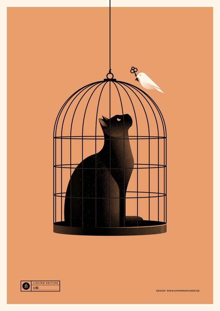Image of Cat Cage Orange Version