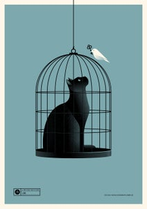 Image of Cat Cage Blue Version