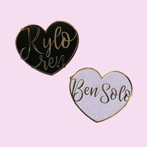 Image of Kylo Ren/Ben Solo hearts