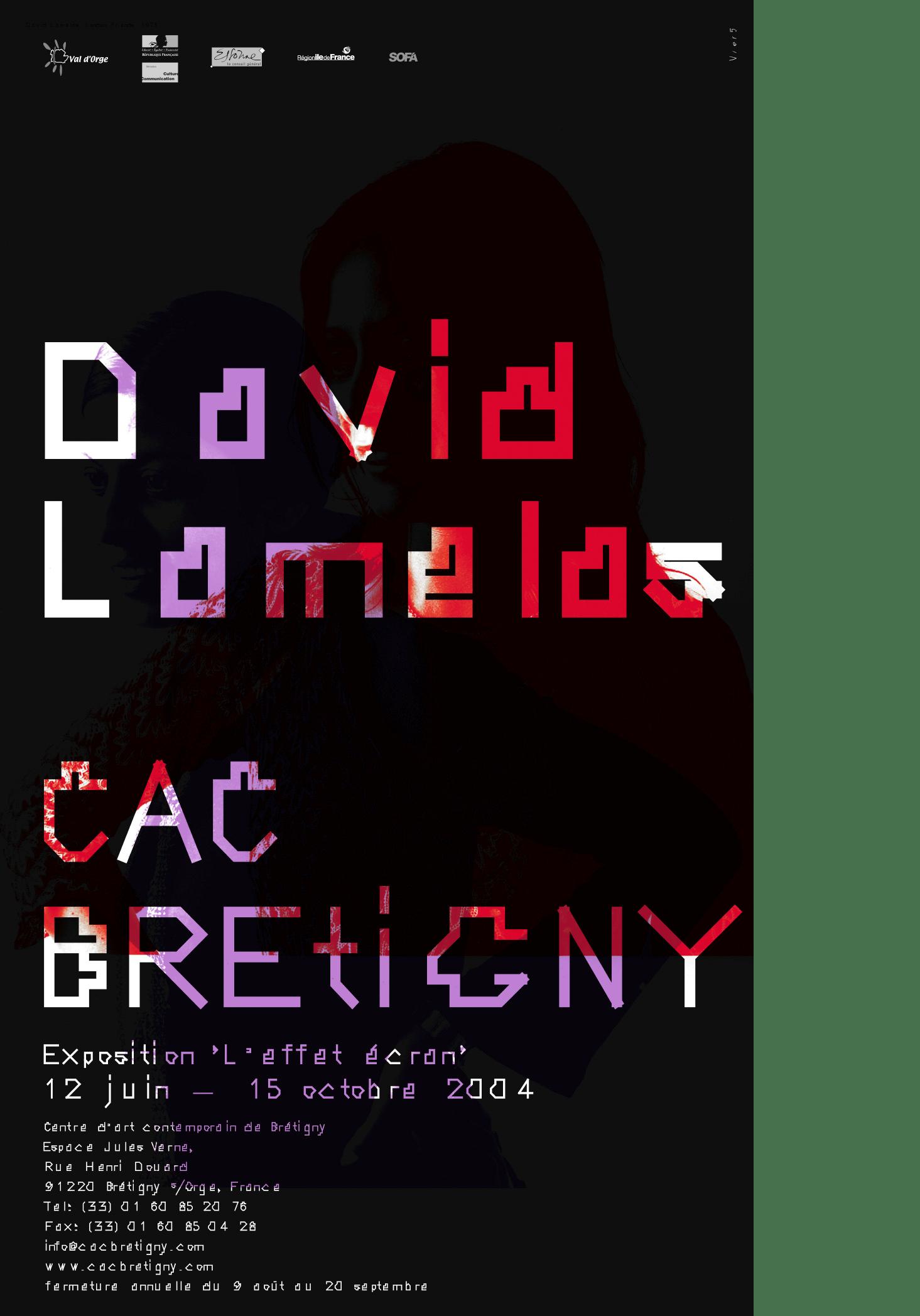 """DAVID LAMELAS, <br>""""L'EFFET ÉCRAN"""""""