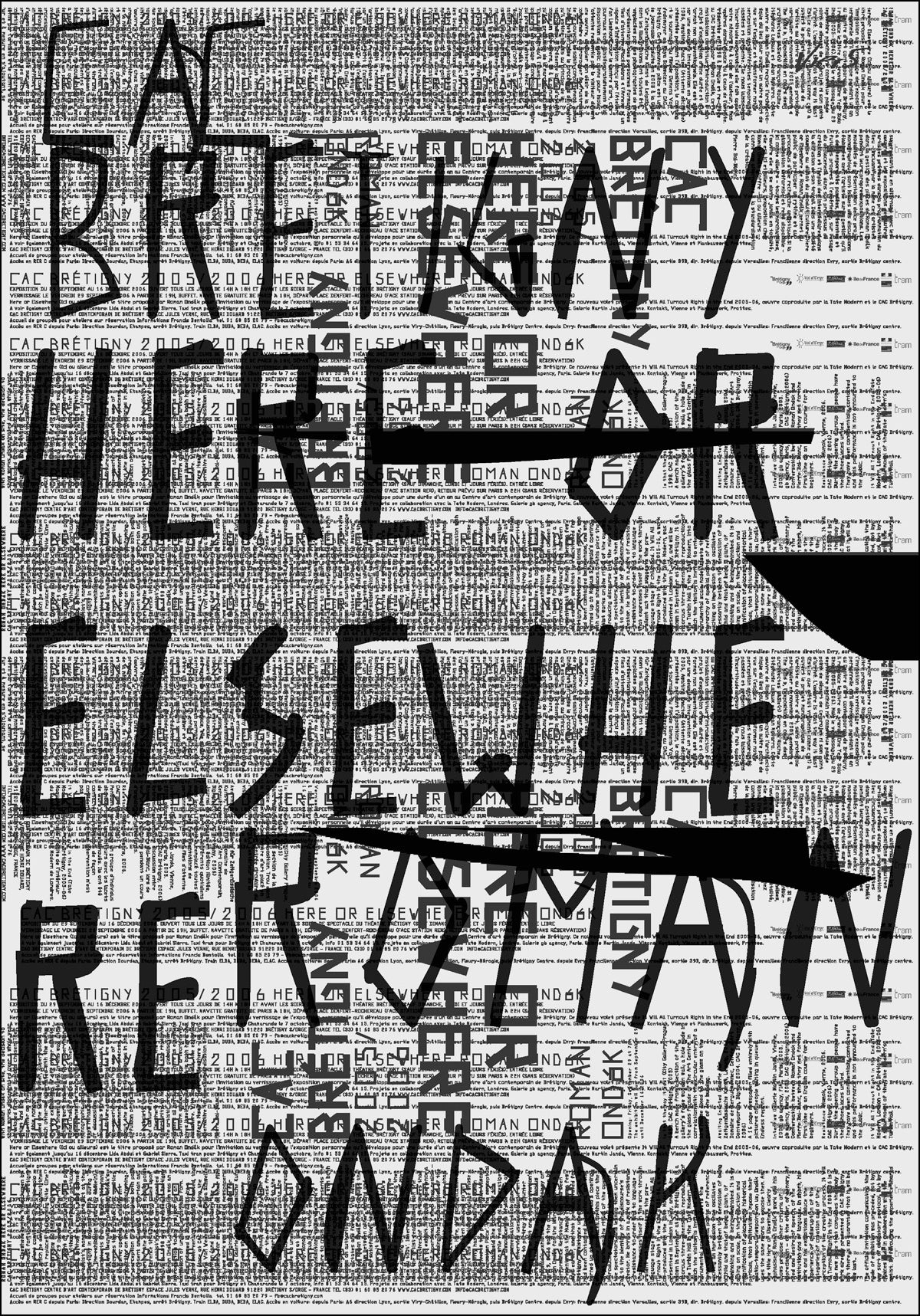 "ROMAN ONDÁK, <br>""HERE OR ELSEWHERE"", BLACK SILKPRINT"
