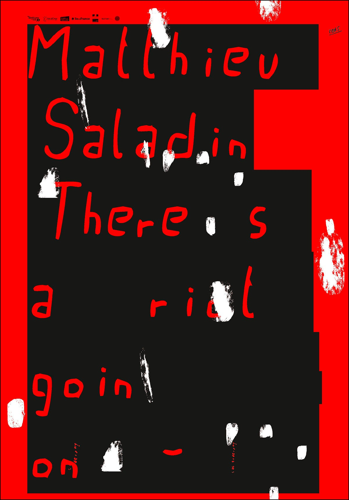 "MATTHIEU SALADIN, <br>""THERE IS A RIOT GOIN ON"""