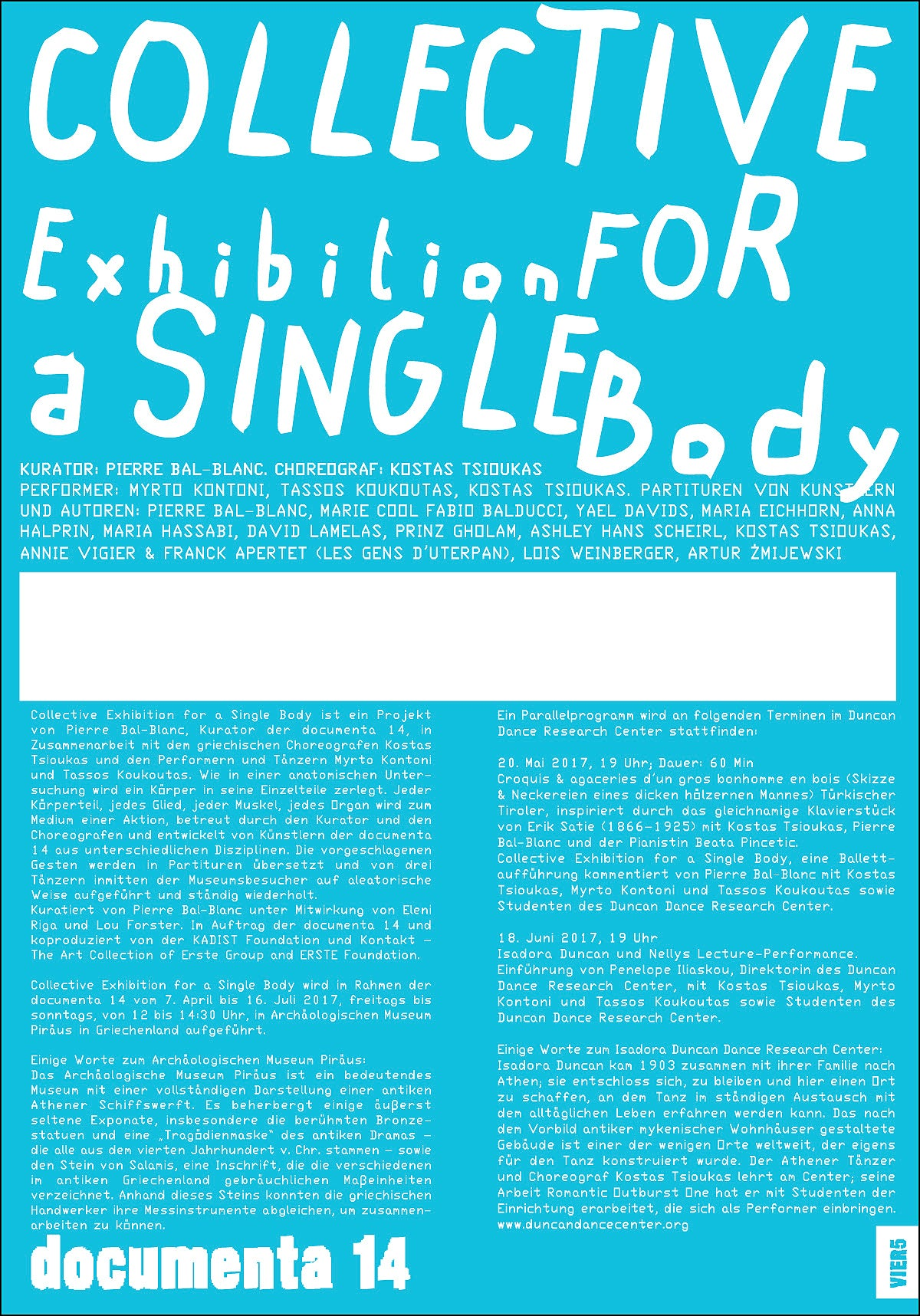 """COLLECTIVE EXHIBITION <br>FOR A SINGLE BODY"", BLUE"