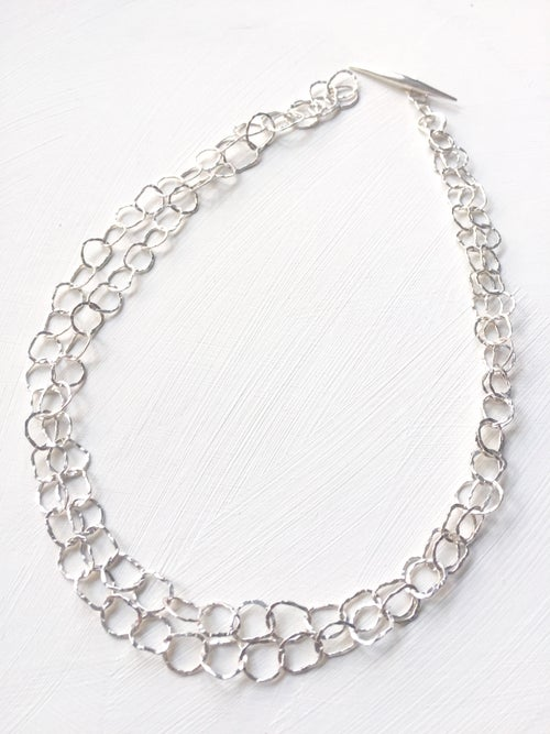 Image of Afiok necklace double length -sterling silver