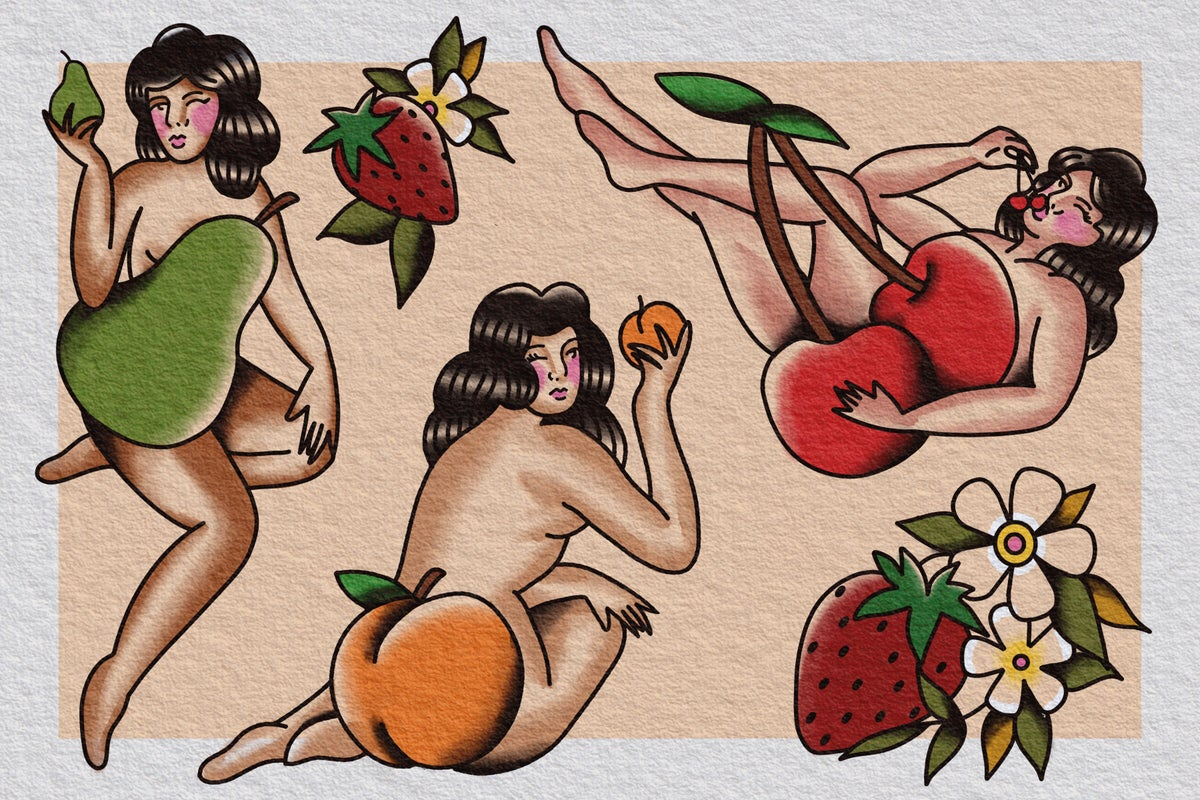 Fruit Girl Print