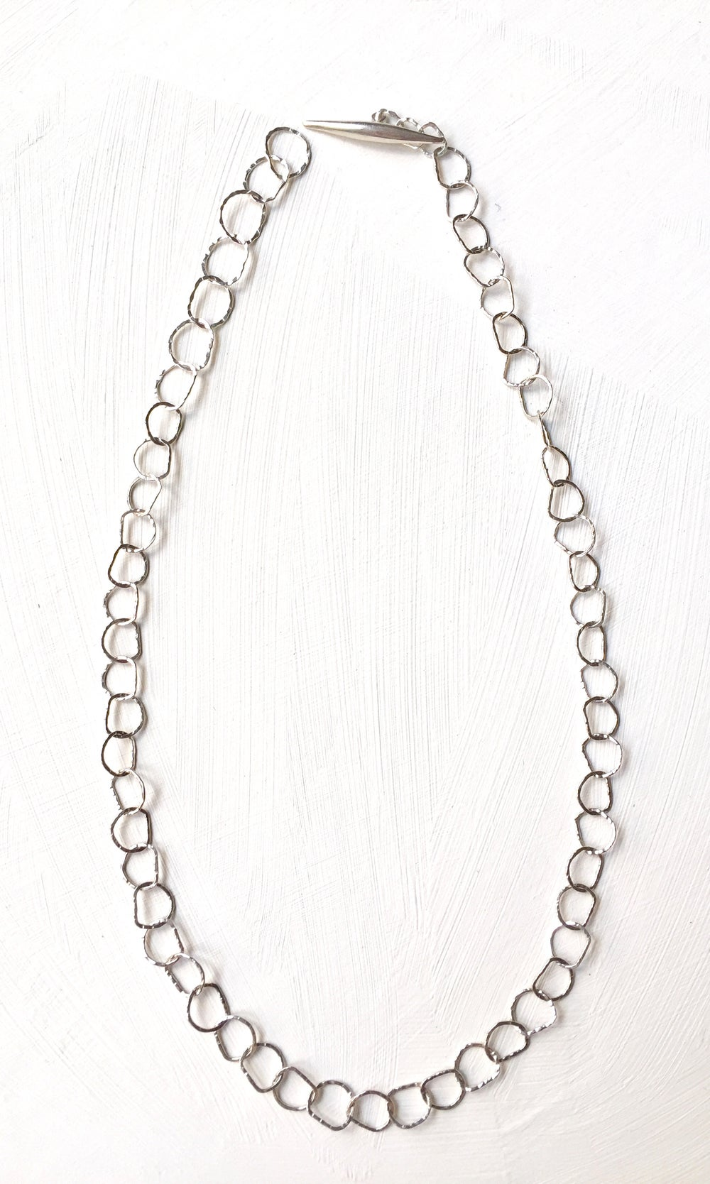 Image of Afiok necklace single length -sterling silver