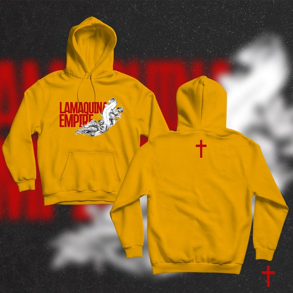 """Image of Limited Edition """"LaMaquina Angel"""" Yellow Gold Hoodie"""