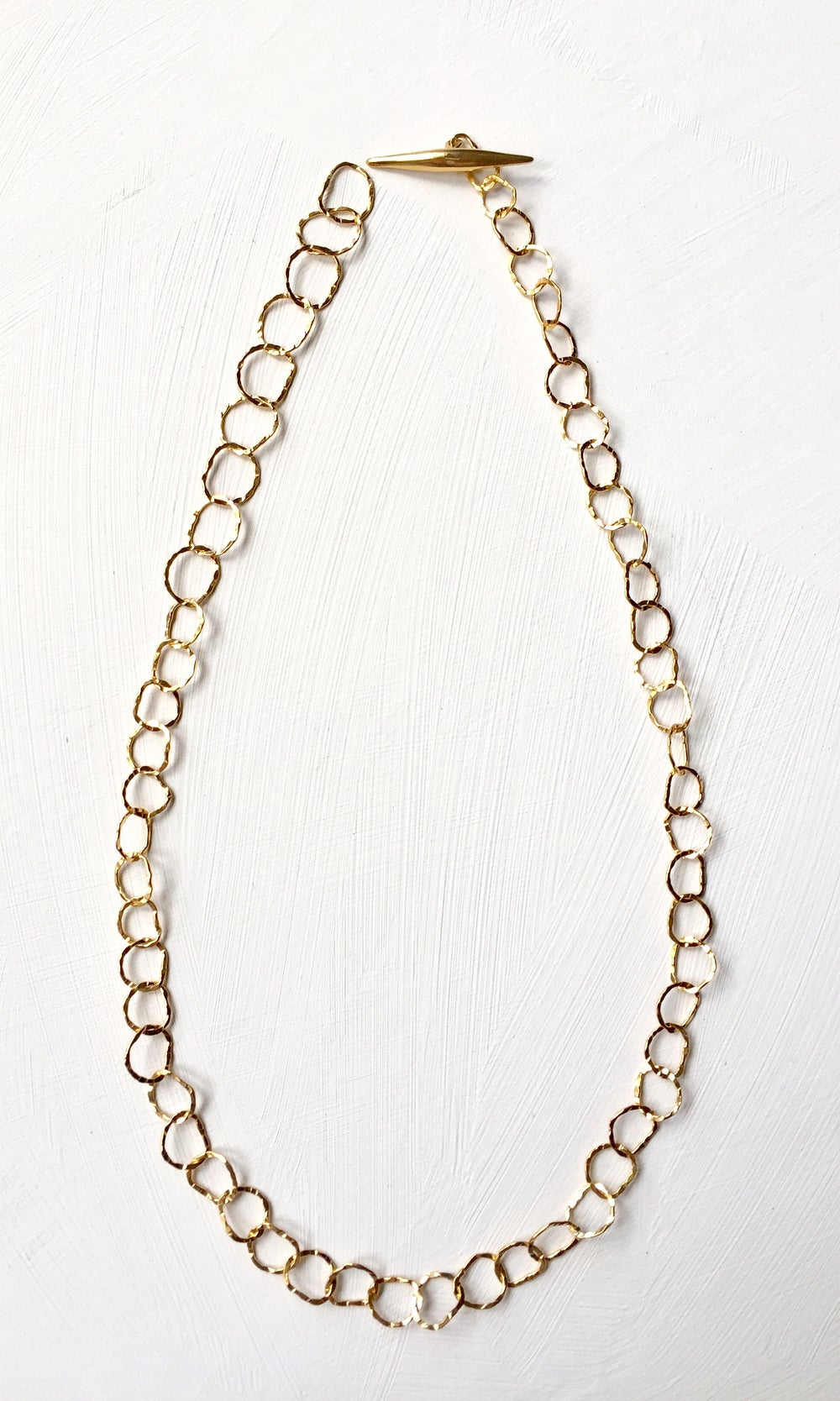Image of Afiok necklace single length -yellow gold vermeil
