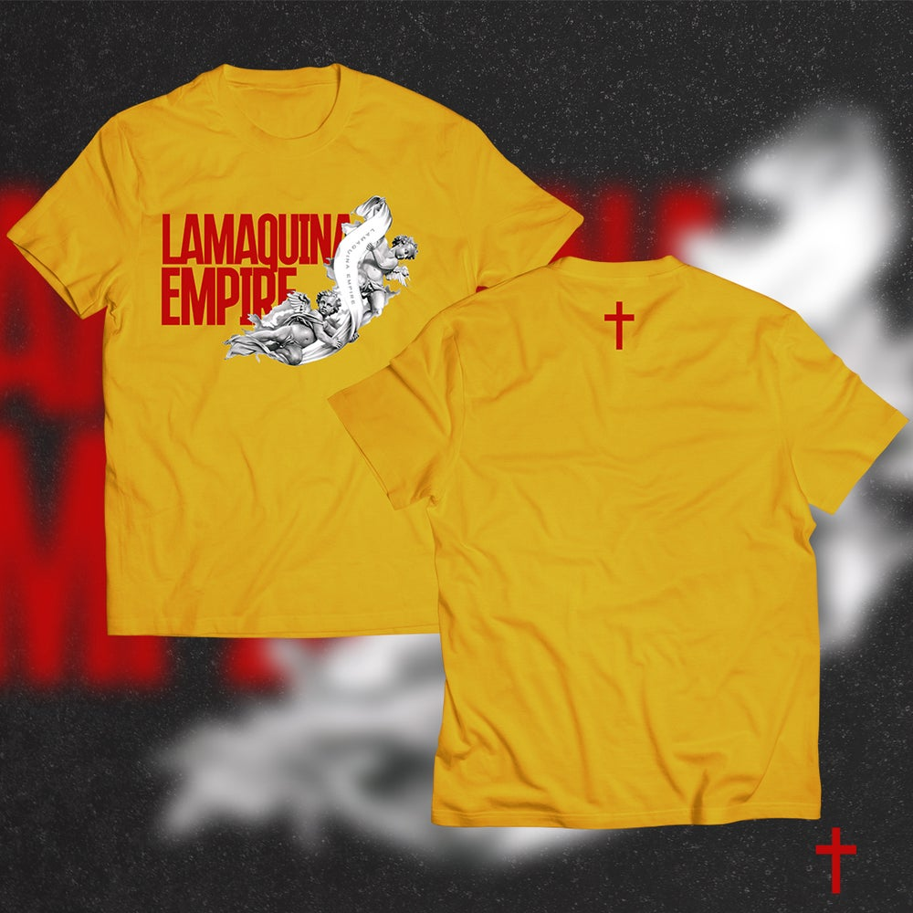 "Image of Limited Edition ""LaMaquina Angel"" Yellow Gold T-Shirt"