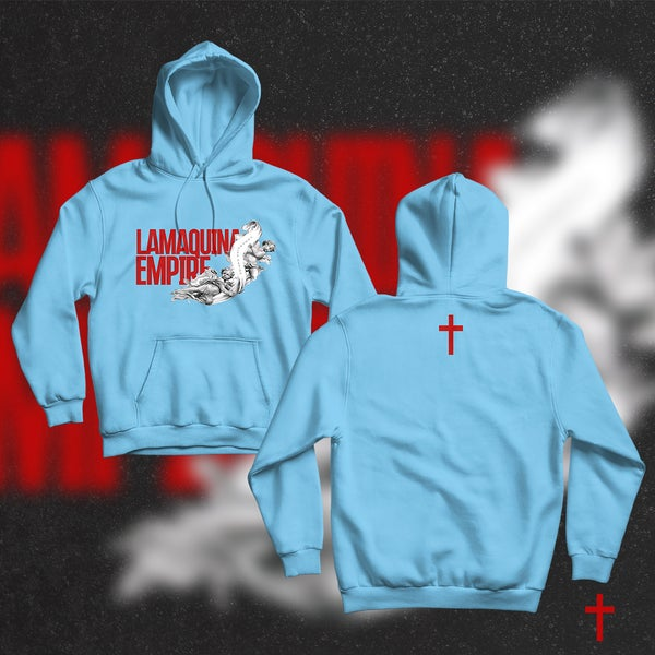 """Image of Limited Edition """"LaMaquina Angel"""" Oiler Blue Hoodie"""