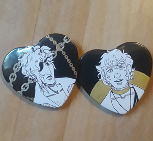 Limited! Black and Gold Arcana Heart Buttons