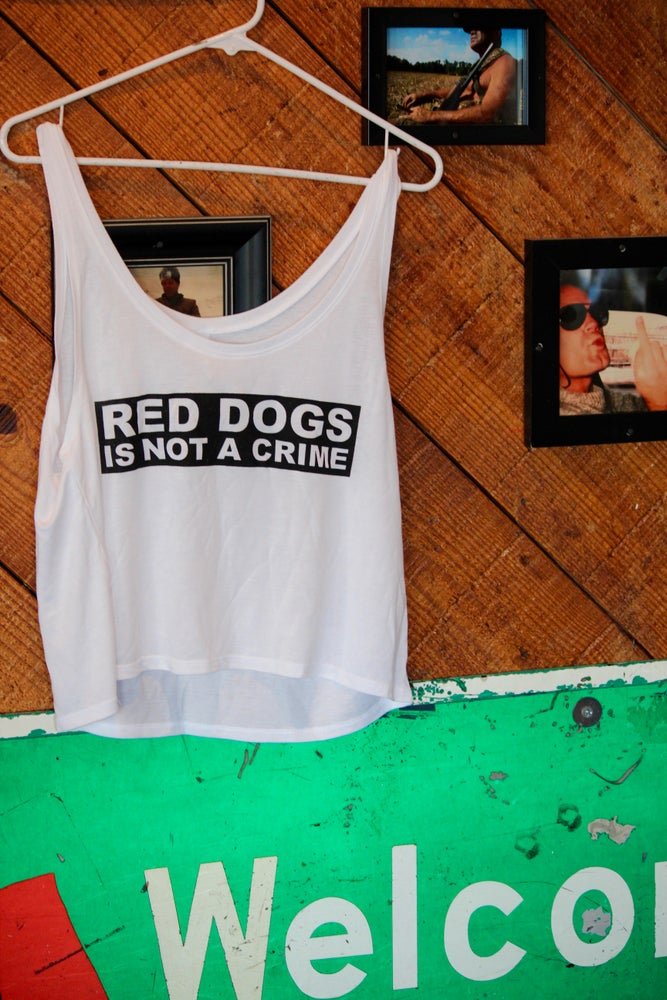 Image of Ladies Not A Crime Cropped Tank