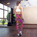 Image 2 of Pink Pollinator Yoga Butterfly Leggings