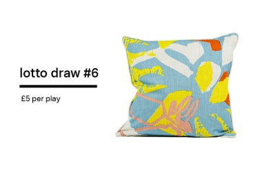 Image of Lotto Draw #6 - Flora Cushion- 45 x 45 cm (includes duck feather cushion pad)