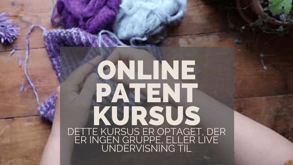 Image of Lær at strikke Patent strik - Kompendium
