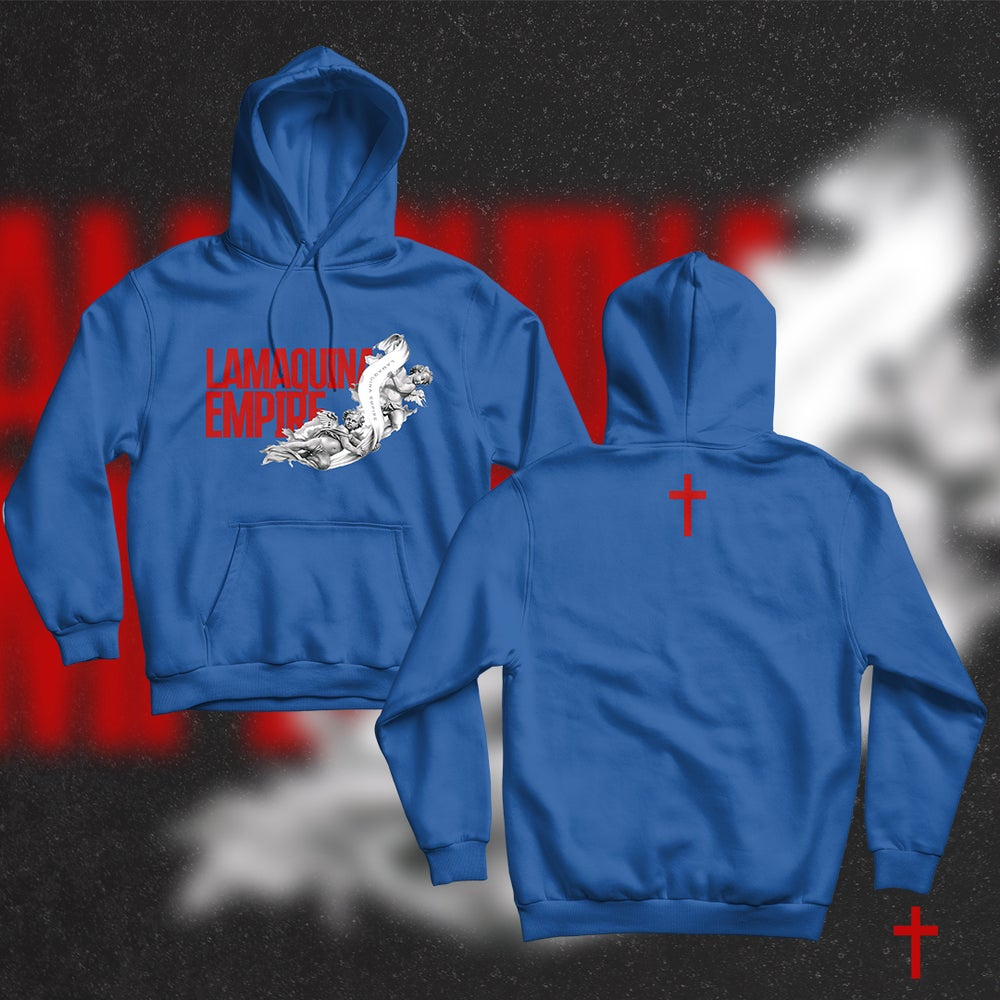 "Image of Limited Edition ""LaMaquina Angel"" Royal Blue Hoodie"