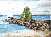 Image of Christmas Tree on Jetty Card