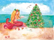 Image of Mermaid by the Sea Christmas card