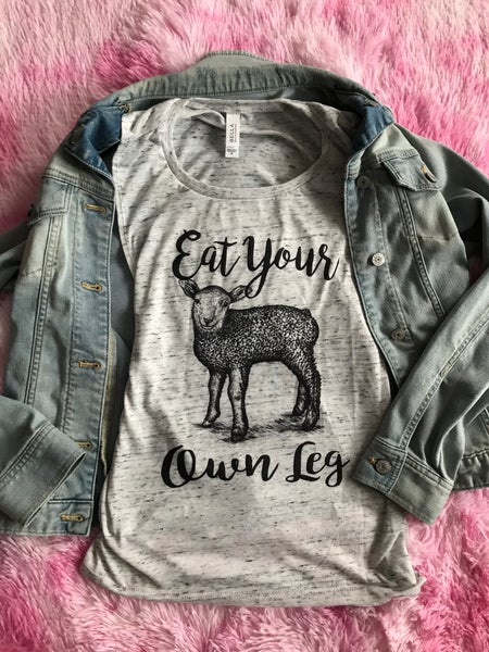 Image of Ladies fitted tee Eat Your Own Leg
