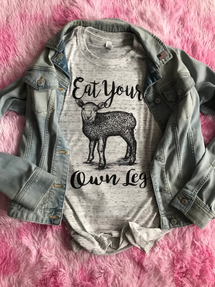 Image of UNISEX/MENS Eat Your Own Leg Tee