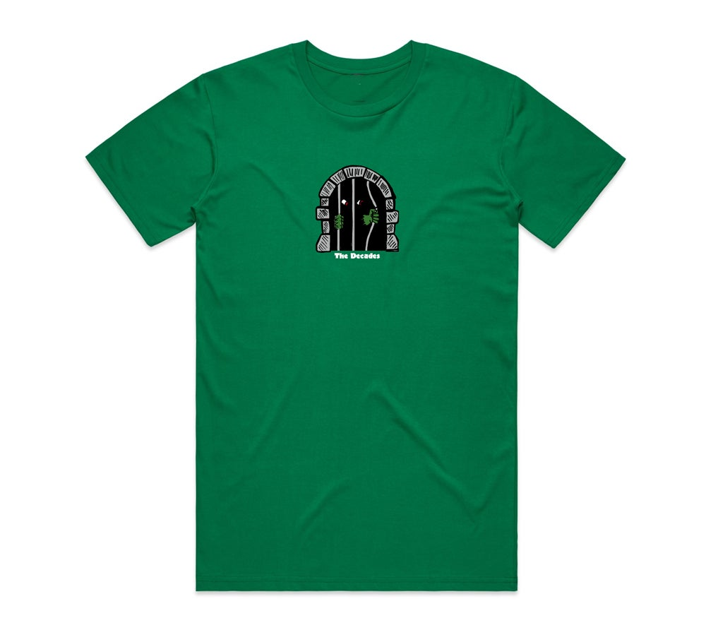 Image of Caged In tee green