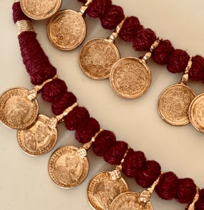 Image of tiny gold plated coin replicas