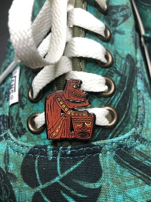 """Image of 1"""" Left /Right Tiki Drummer Shoe Charms"""