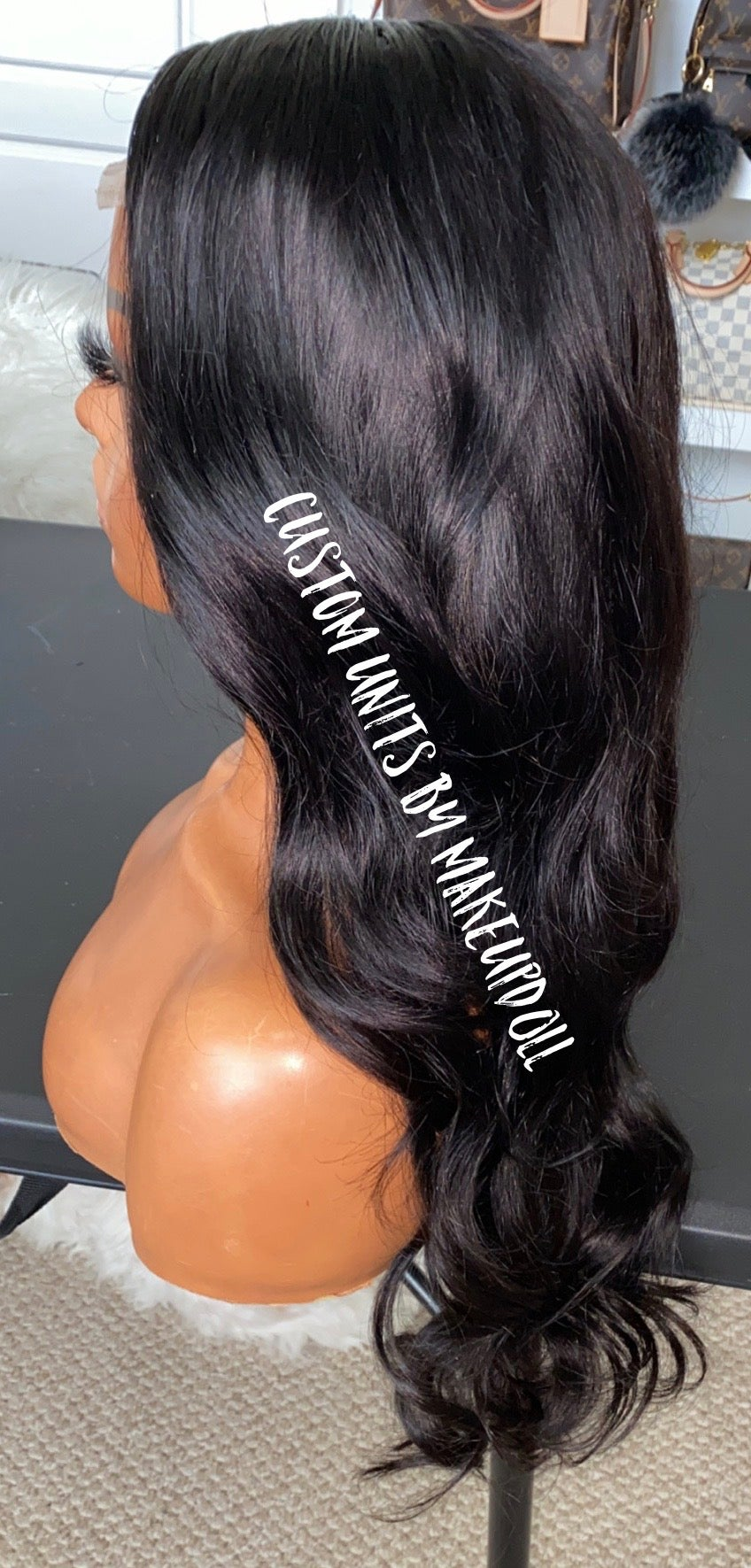 "Image of Brazilian Body Wave 22"" Closure Wig"