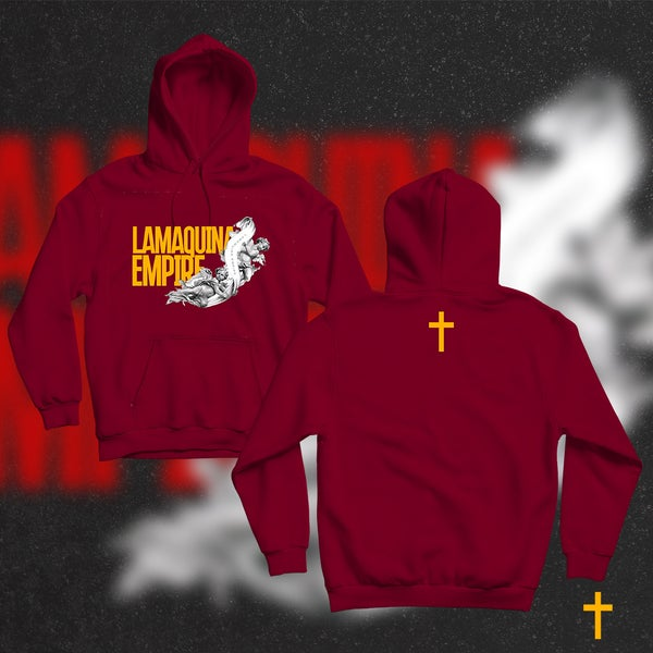 """Image of Limited Edition """"LaMaquina Angel"""" Red Hoodie"""