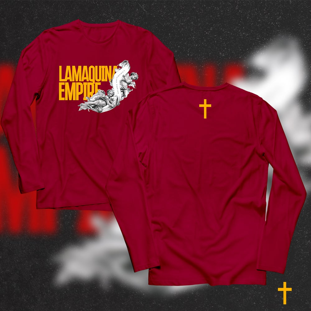 """Image of Limited Edition """"LaMaquina Angel"""" Red LongSleeve"""
