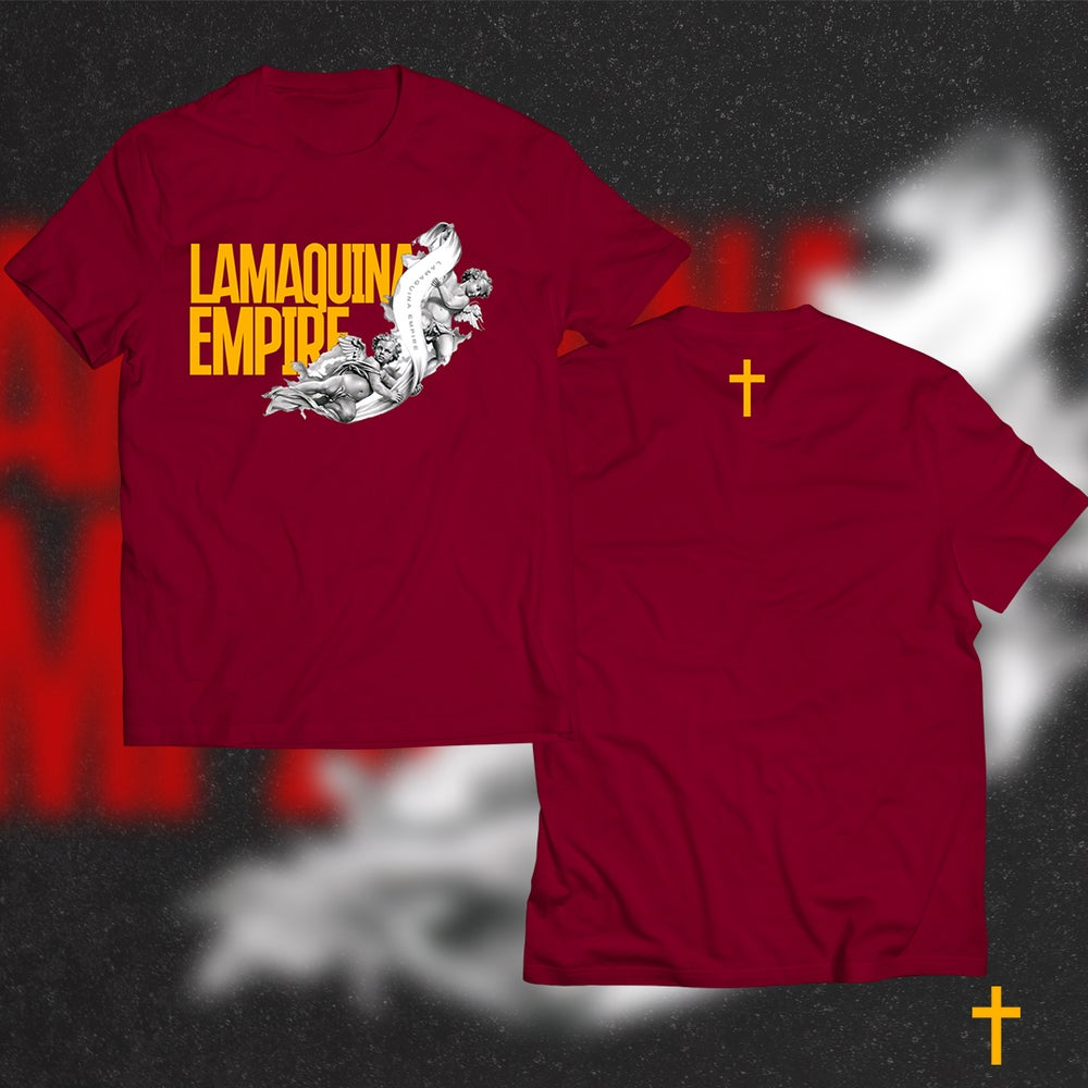 """Image of Limited Edition """"LaMaquina Angel"""" Red T-Shirt"""