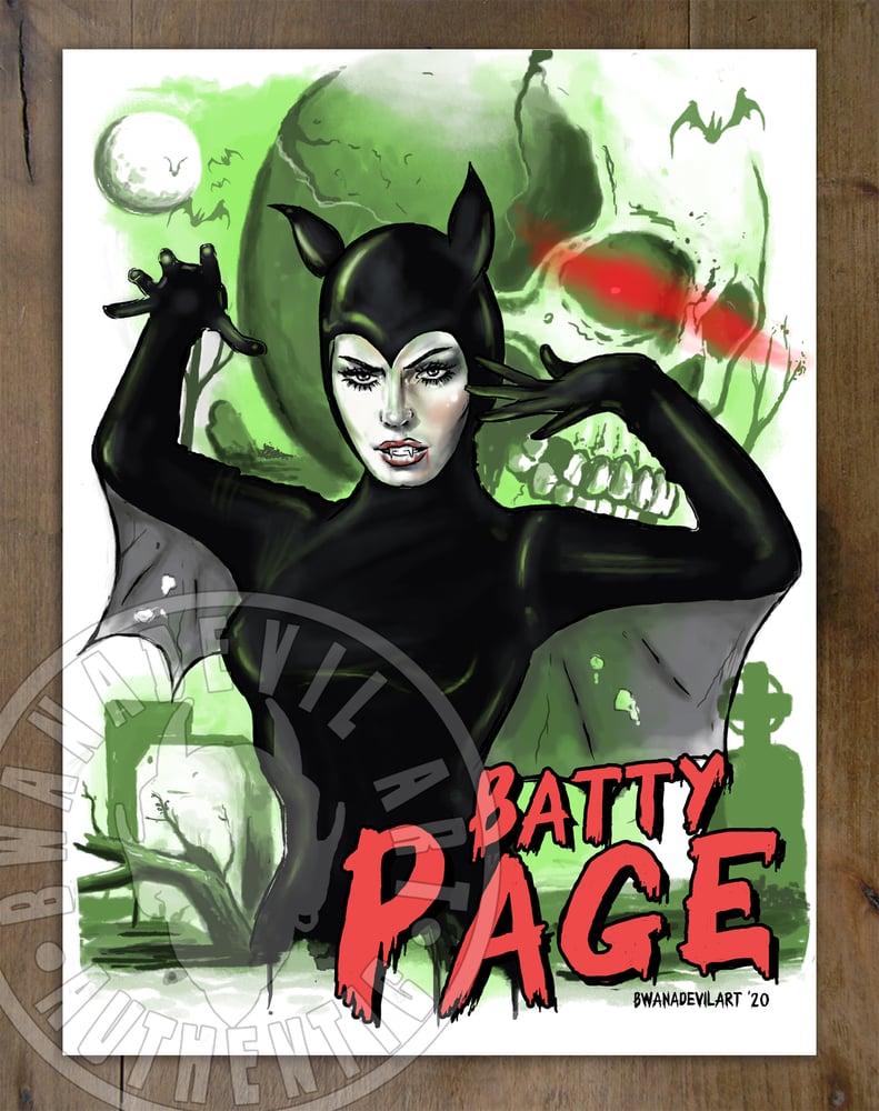 Image of Batty Page Art Print