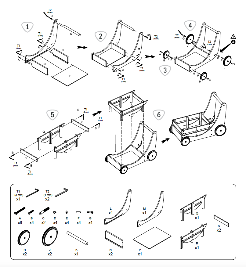Image of Instruction Manual for the Kinderfeets Cargo Walker