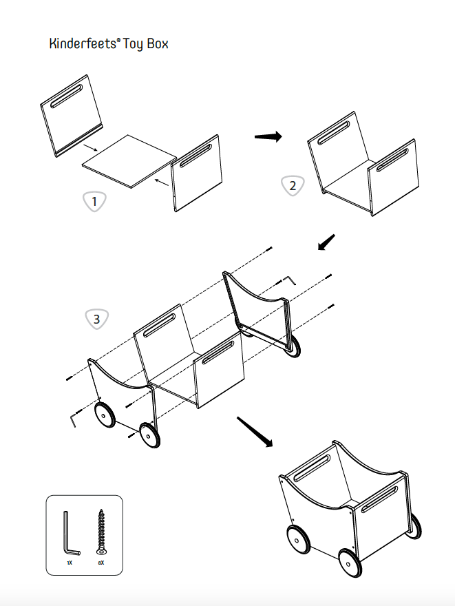 Image of Instruction Manual for the Kinderfeets Toybox