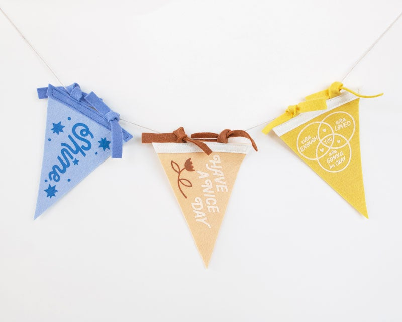 Image of Optimistic Mini Pennant Pack (3)