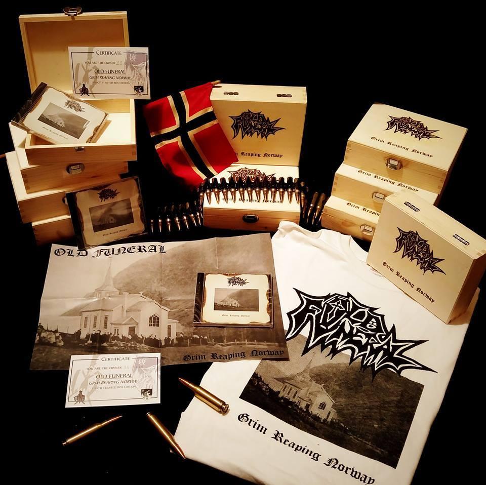 OLD FUNERAL -Grim Reaping Norway- DIE-HARD WOODEN BOX CD