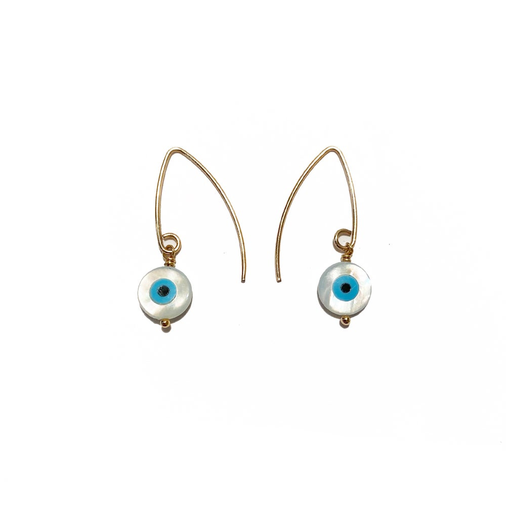 Image of Gold Filled Eye Earrings