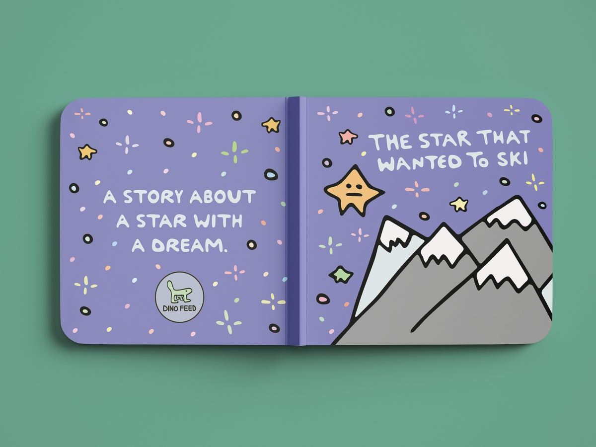 """Image of """"The Star That Wanted to Ski"""" Children's Book"""