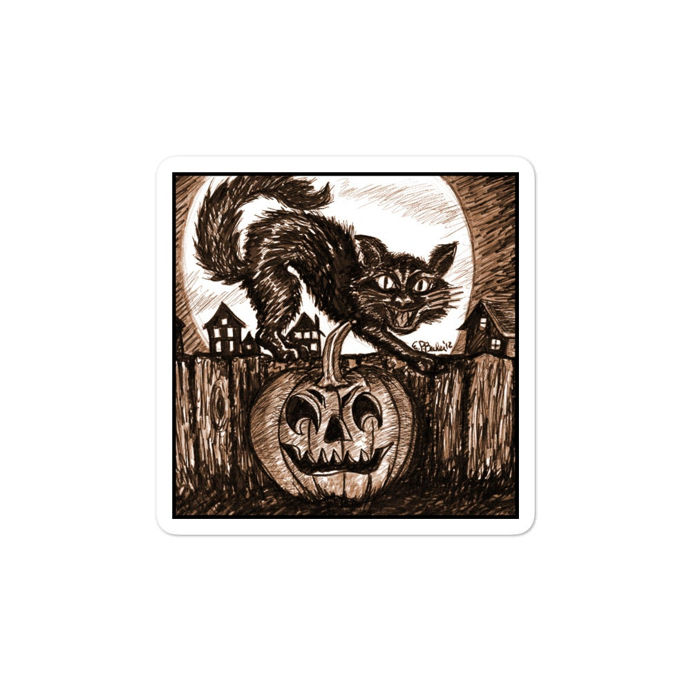 Halloween Le Chat Noir Sticker