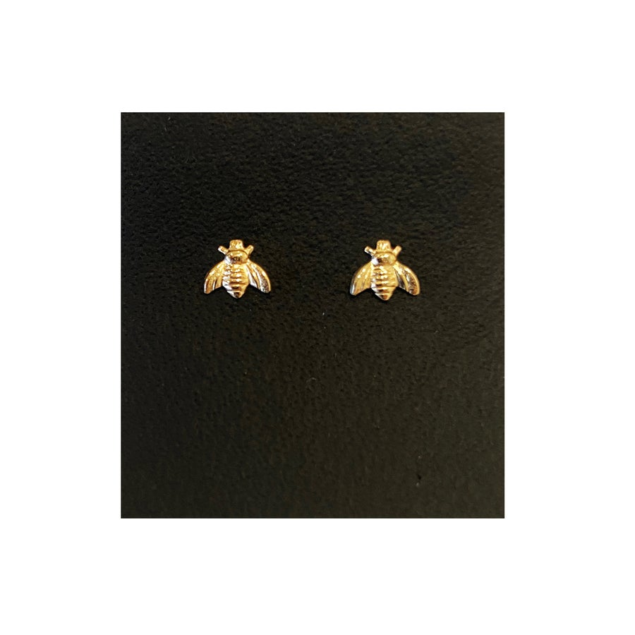 Image of Gold Filled Charm Queen Bee Studs