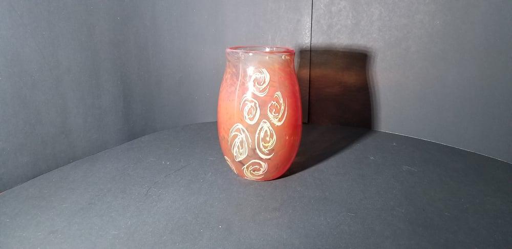 Image of Red murrni vase