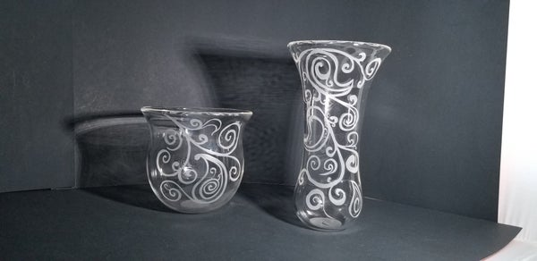 Image of Paisley bowl and vase set