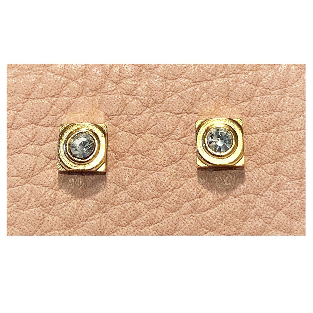 Image of Vintage Square Stud Earrings