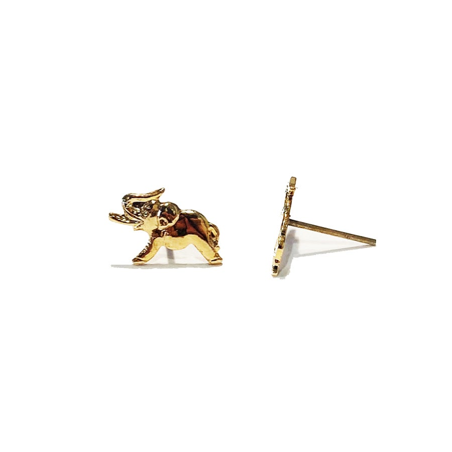Image of Vintage Elephant Stud Earrings