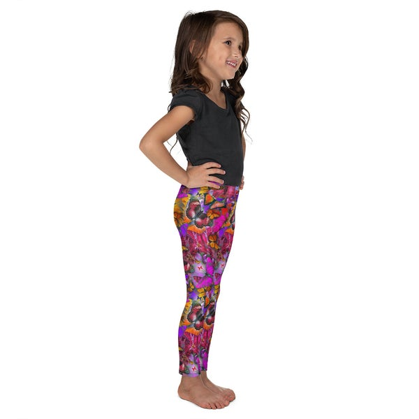 Image of Kid's Pink Pollinator Leggings