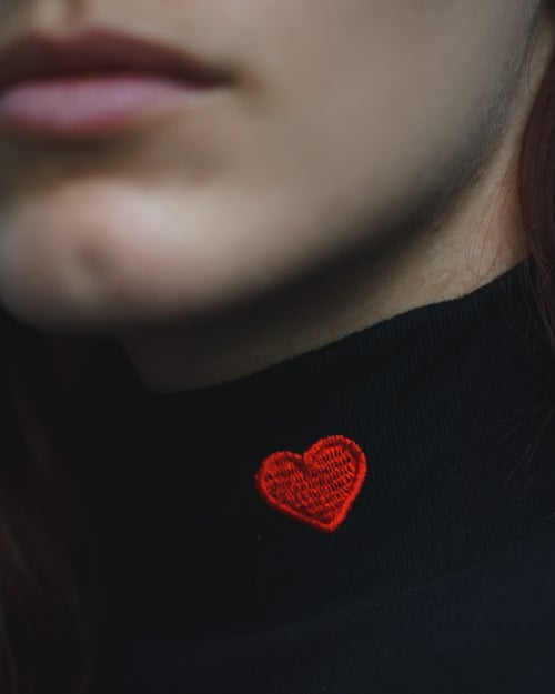 Image of love turtleneck.