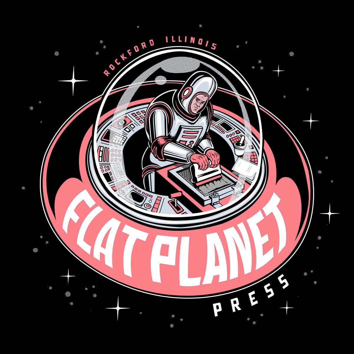 Flat Planet press Spaceman T-shirt (IN STOCK!)